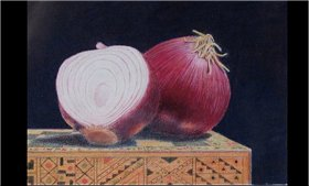 Red Onions on Chess Box